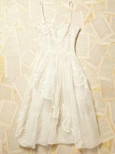 Free People Vintage 1950s White Lace Dress, $728.00