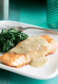 Broiled Salmon Steak with Lemon Butter