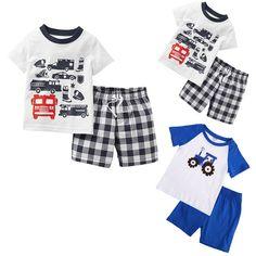 kids Pajamas/Pyjamas baby boy clothes children's clothing summer cotton sleepwear pijama infantil
