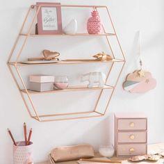 COPPER hexagonal metal shelf H 45 cm | Maisons du Monde