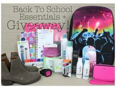 Back To School Essentials + Giveaway  the backpack OMG! I need it in my life <3