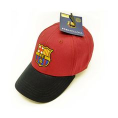 22d227cccd3ea Details about Official Barcelona FC baseball hat cap. 100% cotton with flat  embroidered logo