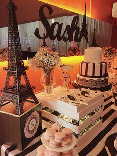 Black - White - Pink Paris party