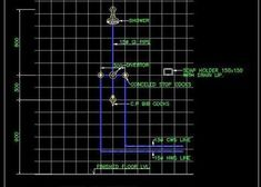 Toilet Plumbing Detail with Pipes and fittings - Autocad DWG Pvc Pipe Fittings, Plumbing Pipe, Plumbing Drawing, Cabin Interior Design, Sewage Treatment, Duplex House Plans, Floating Staircase, Floor Drains, Glass Railing