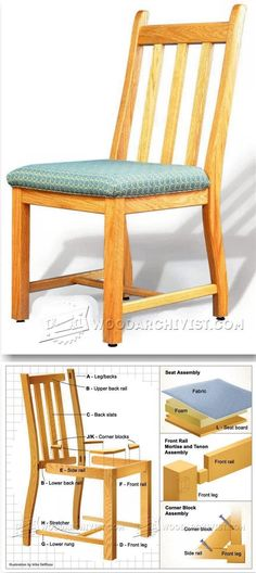Dining Room Table Woodworking Plan Dining Room Chair Plans Furniture Plans and Projects Woodworking Furniture Plans, Woodworking Projects That Sell, Kids Woodworking, Intarsia Wood Patterns, Chair Bench, Dining Room Chairs, Pallet Benches, Planer, Murphy Beds
