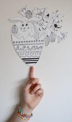 God Påske- Happy Easter.  Illustration by Aastrøm - aastrom.dk #illustration #easter #påske #bunny