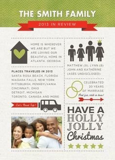 Year In Review Christmas Card Template  Overview Year In