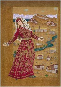 Turkish Art, Central Asia, Arabesque, Ottomans, Portrait Art, Islamic Art, Kaftan, Iran, Persian