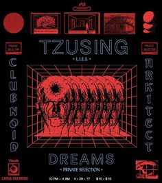 "Vintage Graphic Design outoforderofficial: ""Private Selection Presents: Tzusing, Dreams, Arkitect, Club Noid "" - Graphic Design Posters, Graphic Design Typography, Graphic Design Inspiration, Typography Layout, Poster Designs, Typography Poster, Abstract Illustration, Graphic Design Illustration, Cover Design"
