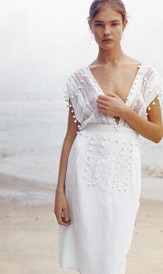 Repin Via: Beth | {local milk} pom poms simple white dress for your older bridesmaids ;)