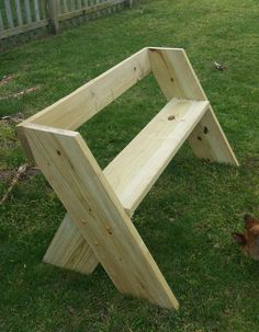 Simple yet strong and surprisingly comfortable, I build this bench in an afternoon using only one 2x10 and one 2x6 board. Originally designed by famed an American author, philosopher, scientist, ecologist, forester, conservationist, and environmentalist Aldo Leopold (1887-1948)