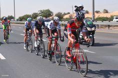 #DubaiTour 4th Tour Dubai 2017 / Stage 2 Jean-Pierre DRUCKER (LUX)/ Yousef MIRZA (UAE)/ Mark CHRISTIAN (GBR)/ Thomas STEWART (GBR)/ Nicola BOEM (ITA)/ Dubai-DIMC - Ras al Khaimah (188km) / Ras al Khaimah Stage / Dubai Tour /