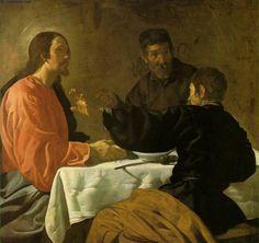 'Das Abendmahl in Emmaus', öl auf leinwand von Diego Velazquez (1599-1660, Spain)