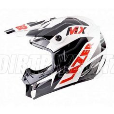 2013 Lazer Smx Motocross Helmets - Mx8 Pure Glass Geopop Red Black White - 2013 Lazer Motocross Helmets - 2013 Motocross Gear
