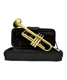 Take a look at the Gold Lacquer Music Pro B-flat Trumpet Set on #zulily today!