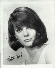 An #autographed #blackandwhite #headshot of Natalie