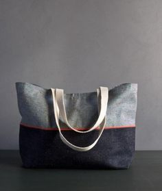 Favorite Totes in Denim with Colored Motes | Purl Soho - Create