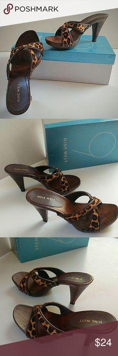 Spotted while shopping on Poshmark: Leopard Slip On Sandals! #poshmark #fashion #shopping #style #Nine West #Shoes