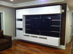 Ikea besta entertainment center ideas wall mounting carpentry chatroom home improvement forum home interior design pictures . Bathroom Wall Storage, Wall Storage Cabinets, Interior Design Pictures, Home Interior Design, White Entertainment Unit, Ikea Wall, Ikea Tv, Ikea Couch, Furniture Assembly