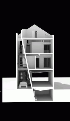 Folding Wall House / NHA DAN ARCHITECT Autocad, Architecture Details, Interior Architecture, Neoclassical Interior, Folding Walls, Home Building Design, Sketchup Model, Arch Model, Facade Design