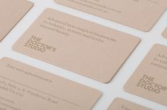 Branding for Melbourne based non-invasive cosmetic surgery The Doctor's Studio by graphic design studio A Friend Of Mine