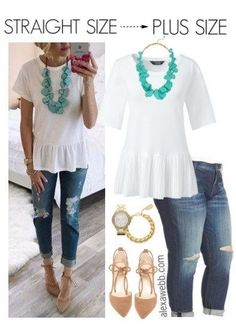 Straight Size to Plus Size - Summer Outfit - Plus Size Fashion for Women - alexawebb.com