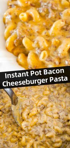 Instant Pot Pasta Recipe, Best Instant Pot Recipe, Instant Recipes, Instant Pot Dinner Recipes, Easy Dinner Recipes, Breakfast Recipes, Pressure Cooker Recipes Pasta, Instant Pot Pressure Cooker, Slow Cooker Recipes