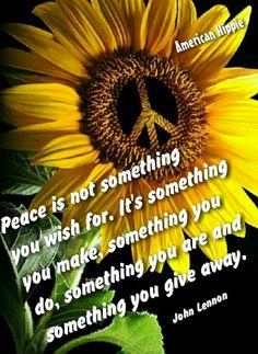 ☮ American Hippie ☮ Peace - John Lennon