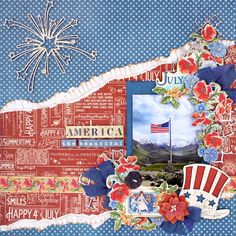 Scrap, Travel, and Bark! Layout created with Children's Hour and Time to Flourish collections.