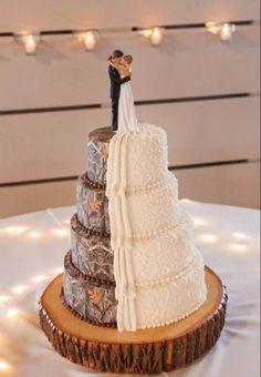 Half and half cake!