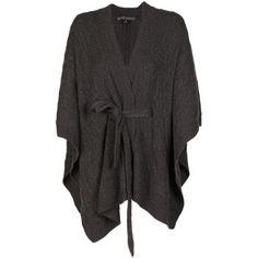 RALPH LAUREN dark heather grey cashmere Cardigan