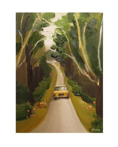At Long Last Max Returns To The Manor In A Yellow Taxi After Studying Abroad.- Limited Edition Print. $35.00, via Etsy.