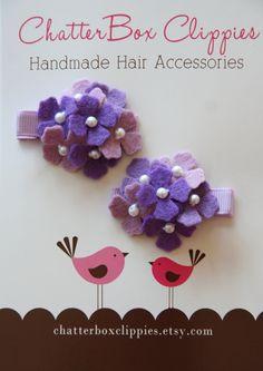 Baby Hair Clips Lavender Flowers Infant Toddler Girls Hair Clips. $9.99, via Etsy.