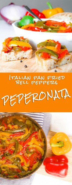 Italian peperonata recipe is very popular and prepared with some little differences in almost all the Italian regions. Bell peppers are slowly pan fried along with onion and diced tomatoes. Peperonata is delicious served over toasted bread slices ore aside grilled meats. It's flavor recalls me the Italian summer, where it is usual prepare this tasty dish in advance and bring it at grill parties in the countryside! - dinner barbeque bbq side recipes vegetarian salad