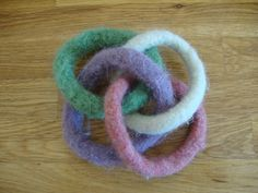 Felted Teething Toy  Eco Friendly Intertwined Wool by HippySticks, $15.00