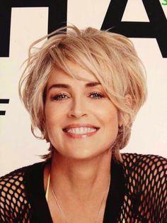 Sharon Stone on Shape Magazine Cover Hair Inspiration Celebrity short hair, Hair styles 2014 Sharon Stone Hairstyles, Messy Bob Hairstyles, Messy Hairstyle, Older Women Hairstyles, Formal Hairstyles, Hairstyles Haircuts, Pretty Hairstyles, Straight Hairstyles, Short Hair Cuts