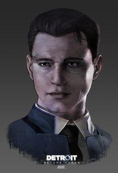 Detroit Become Human Connor - by IBLacKiE-MaiDeNI