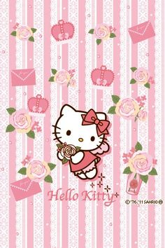 What ain't right and wrong requires no saint — tsuki-no-inori: Hello Kitty Wallpaper Hd, Hello Kitty Backgrounds, Sanrio Wallpaper, Wallpaper Iphone Cute, Cute Wallpapers, Wallpaper Stickers, Hello Kitty Themes, Hello Kitty Pictures, Hello Kitty My Melody