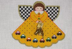 Painted Pony Designs License to Drive Angel 996AY HP Needlepoint Canvas