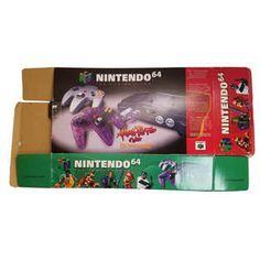 Original Nintendo N64 Atomic Purple Empty System Box - Empty N64 Box
