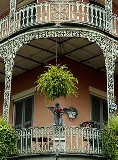 French Quarter Architecture | French Quarter Balcony Photograph by Susie Hoffpauir - French Quarter ...