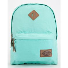 Dickies Canvas Backpack ($37) ❤ liked on Polyvore featuring bags, backpacks, purses, mint, blue canvas bag, rucksack bags, dickies backpack, canvas bag and mint green backpack