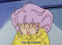 Anime, aesthetic, and sad image Manga Anime, Anime Gifs, Old Anime, Anime Art, Aesthetic Art, Aesthetic Anime, Crying Aesthetic, Sailor Moon, Phineas Et Ferb