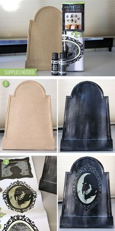 DIY Halloween Tombstone Tutorial