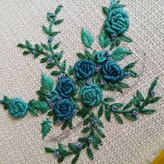 Wonderful Ribbon Embroidery Flowers by Hand Ideas. Enchanting Ribbon Embroidery Flowers by Hand Ideas. Bullion Embroidery, Hand Embroidery Videos, Hand Embroidery Flowers, Simple Embroidery, Hand Embroidery Stitches, Silk Ribbon Embroidery, Hand Embroidery Designs, Vintage Embroidery, Embroidery Kits