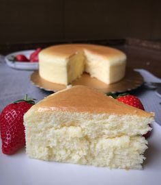 Cheesecake japonés o tarta de queso japonesa - Mis recetas favoritas by Hilmar Empanadas, Vanilla Cake, Deserts, Sweets, Candy, Cooking, Recipes, Ideas, Japanese Cheesecake