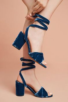 Hudson Shoes Hudson Velvet Ankle-Tie Heels, #ad