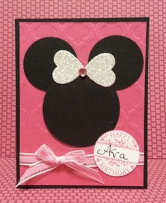 Punch Art Minnie Mouse Card
