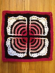 [Free Pattern] Very Pretty And Unusual Afghan Square