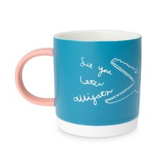 Snap up some me time with the See You Later Alligator Blue Ceramic Mug
